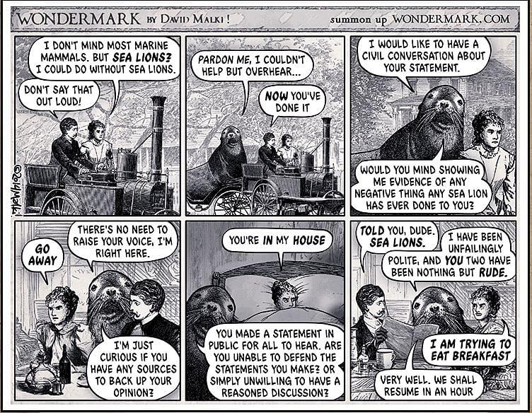 The origins of sealioning
