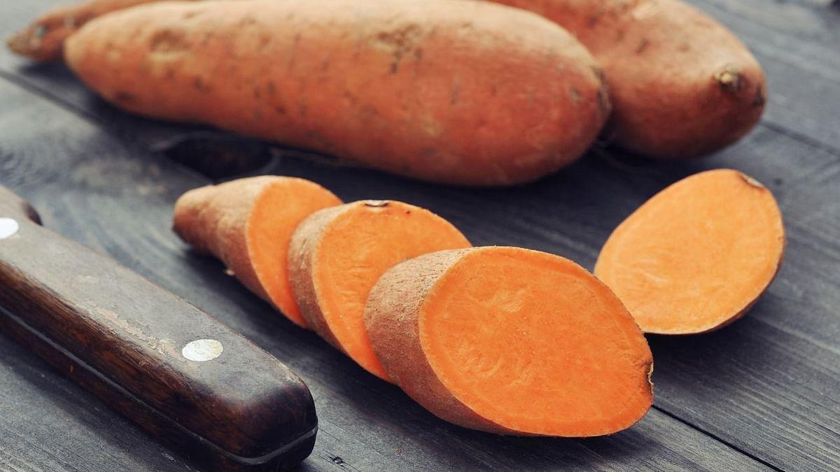 Sweet potato is a fibre-rich root vegetable.