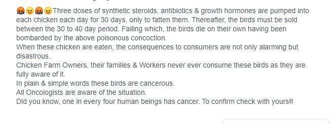 FIT Webqoof: Can Giving Antibiotics to Chickens Lead to Cancer?