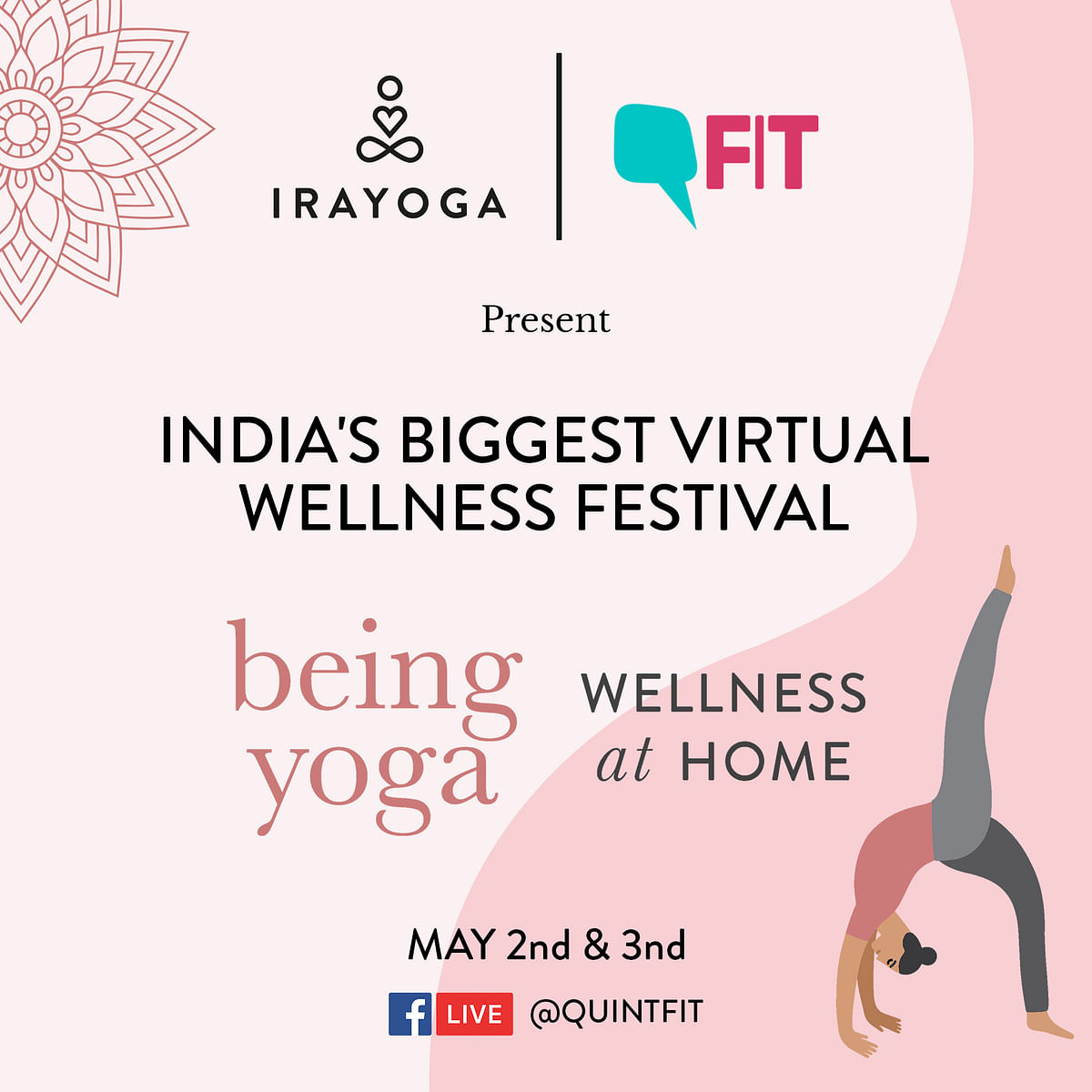 FIT & Ira Yoga Bring You India's Biggest Virtual Wellness Festival