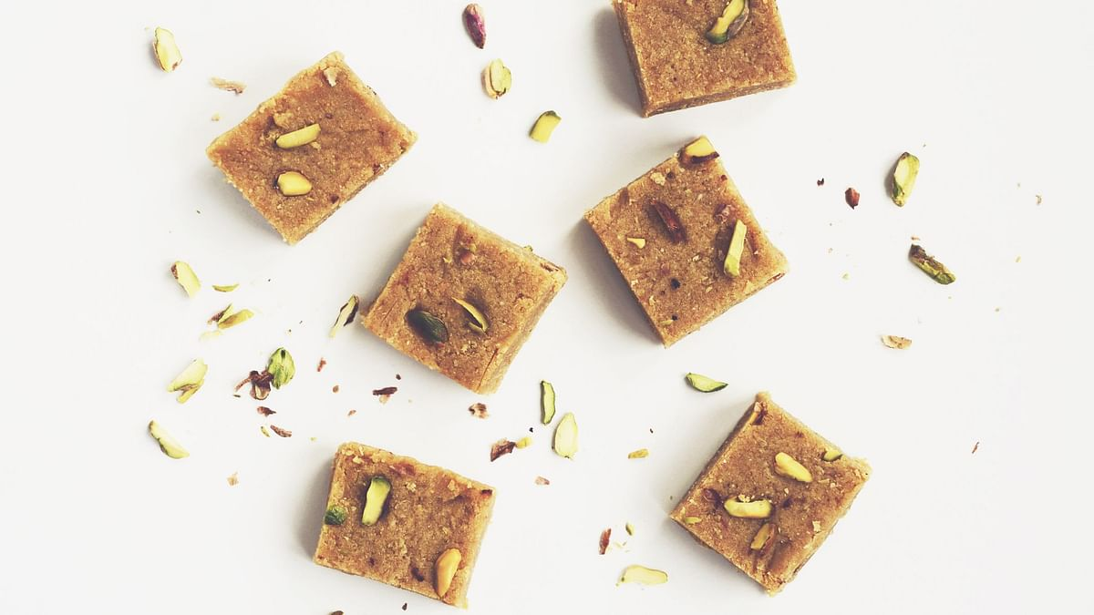 Besan Barfi is a tasty and healthy sweet option.