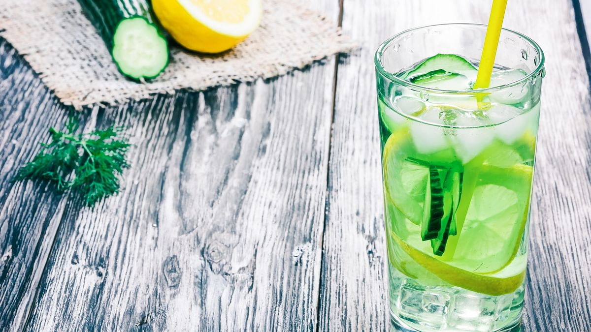 Detox water refreshes and hydrates the body.