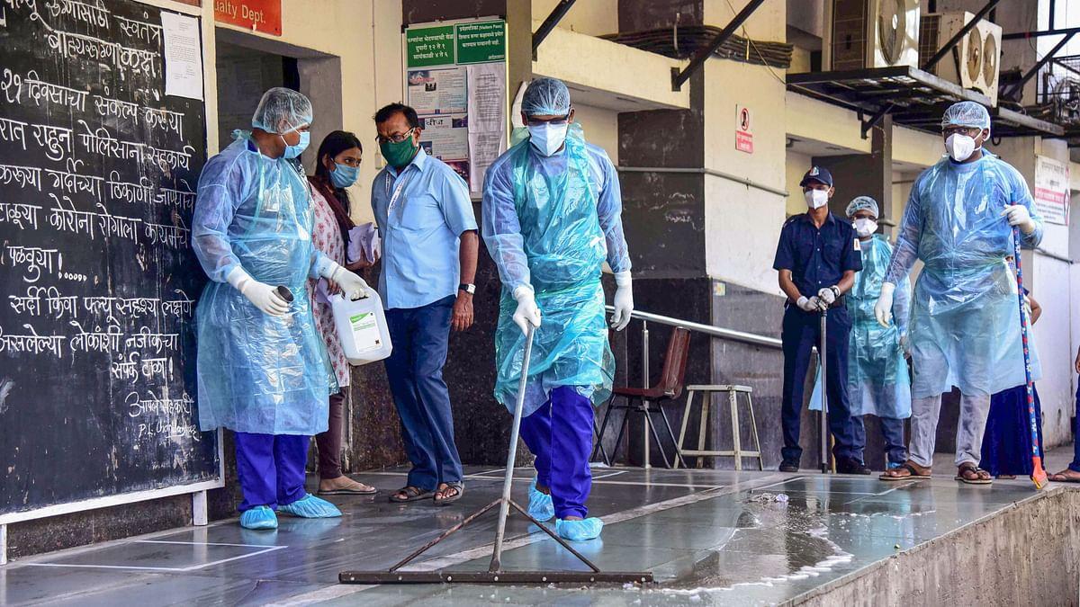 A hospital turned into COVID-19 Treatment Centre in Mumbai.