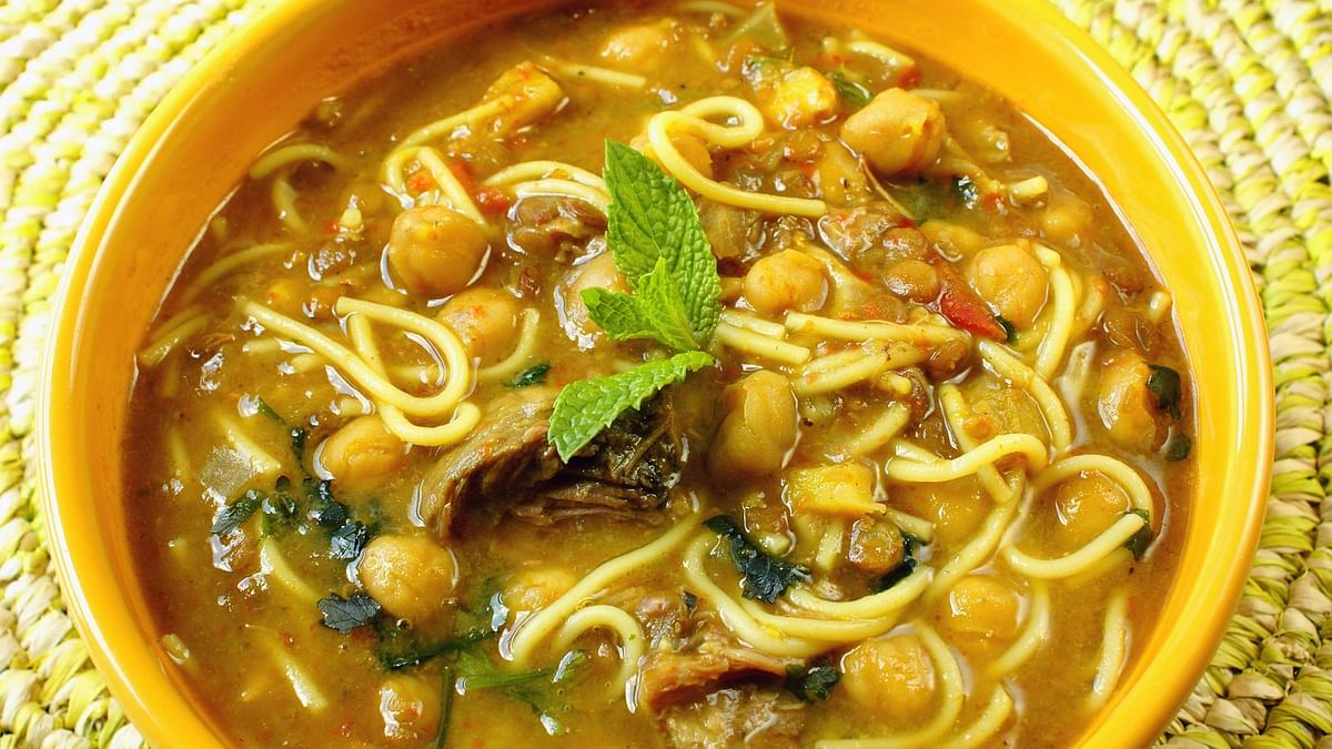 Lemon chickpeas pasta soup is a very healthy and delish option
