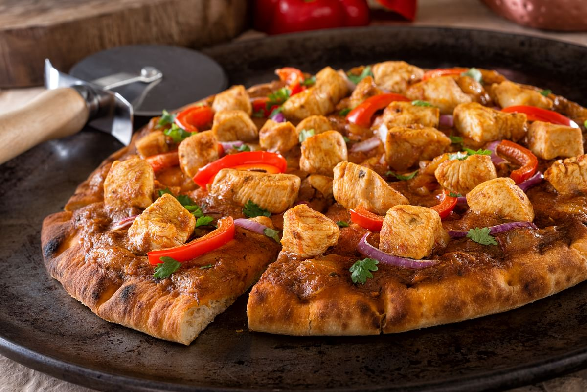 Paneer Pizza. You can replicate this with naan.