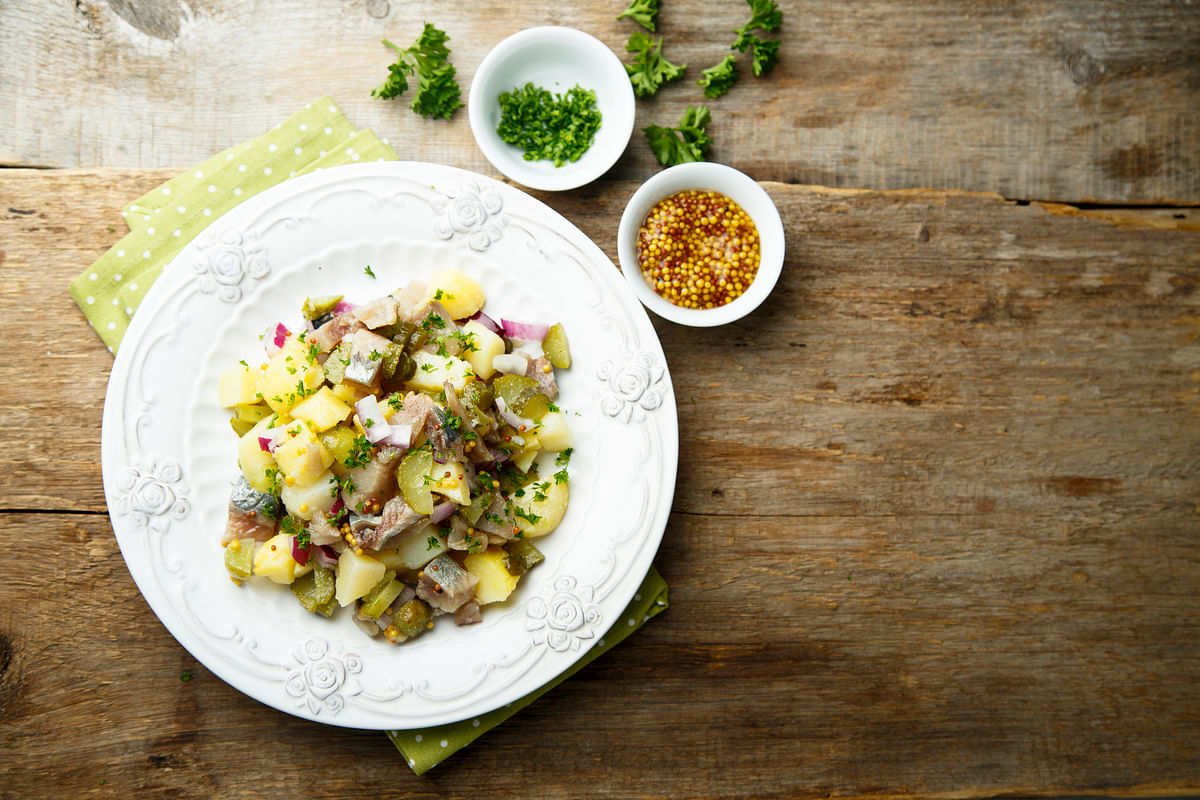 Potato and apple salad
