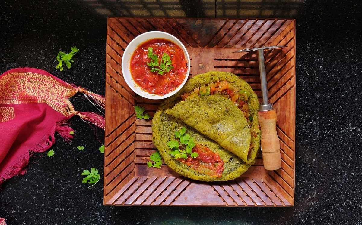 Rice and lentil pancakes