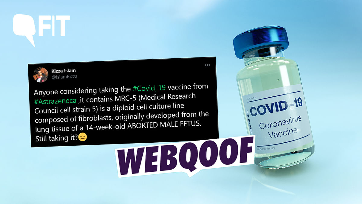 No, Oxford COVID-19 Vaccine Doesn't 'Contain' Aborted Male Foetus