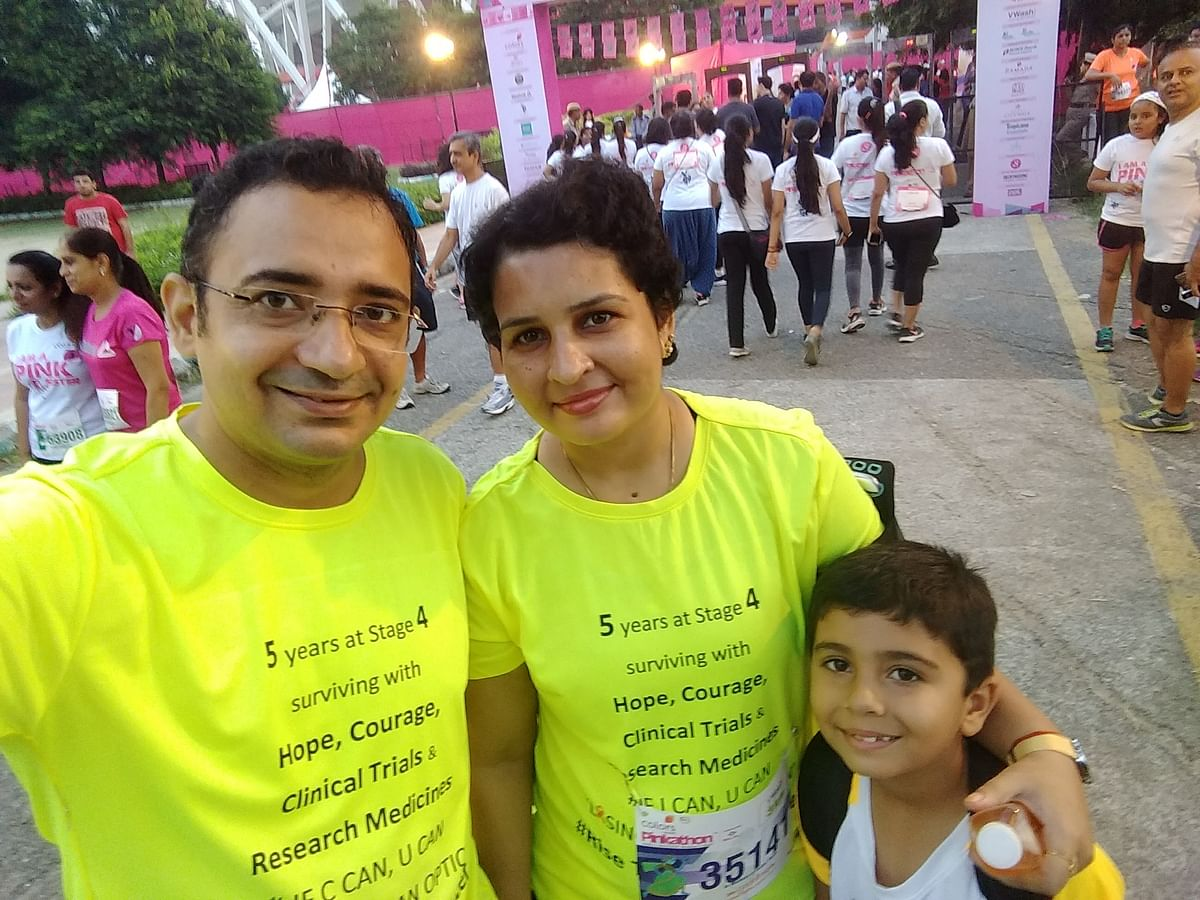 At Pinkathon run after 5 years at stage 4 lung cancer.