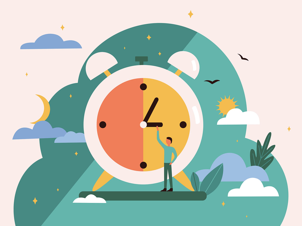 The signals sent by our body's master clock varies throughout the day; this is the reason our circadian rhythm typically coincides with the sun's cycle.
