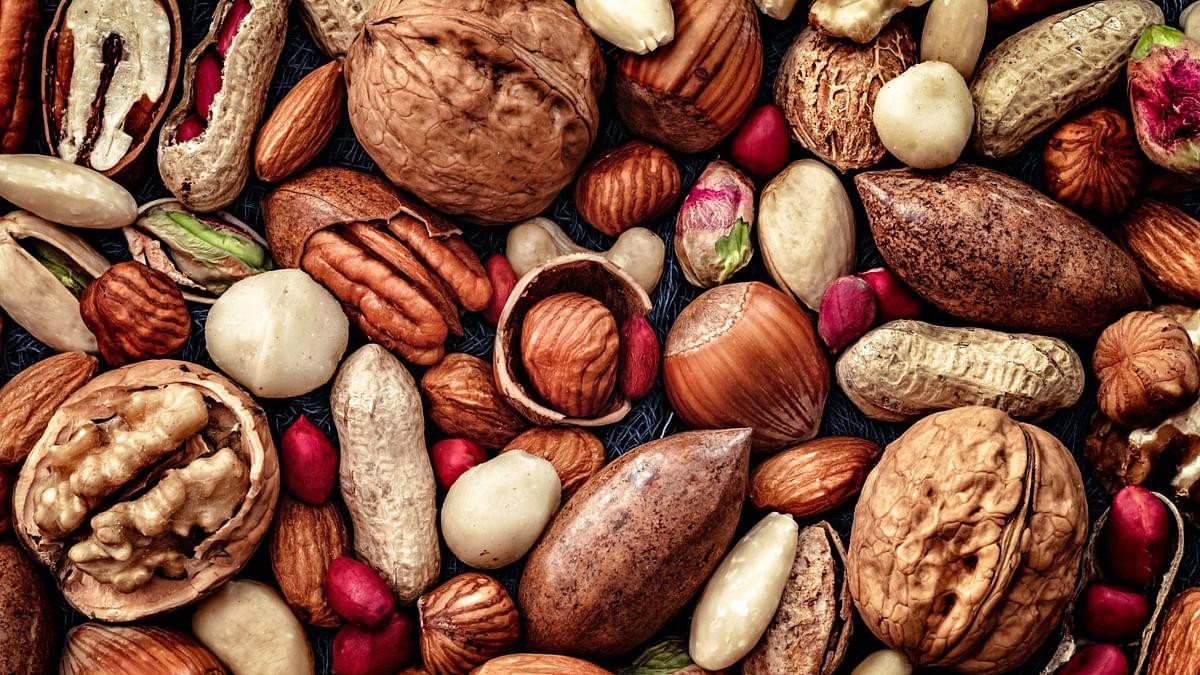 Walnuts, peanuts and almonds