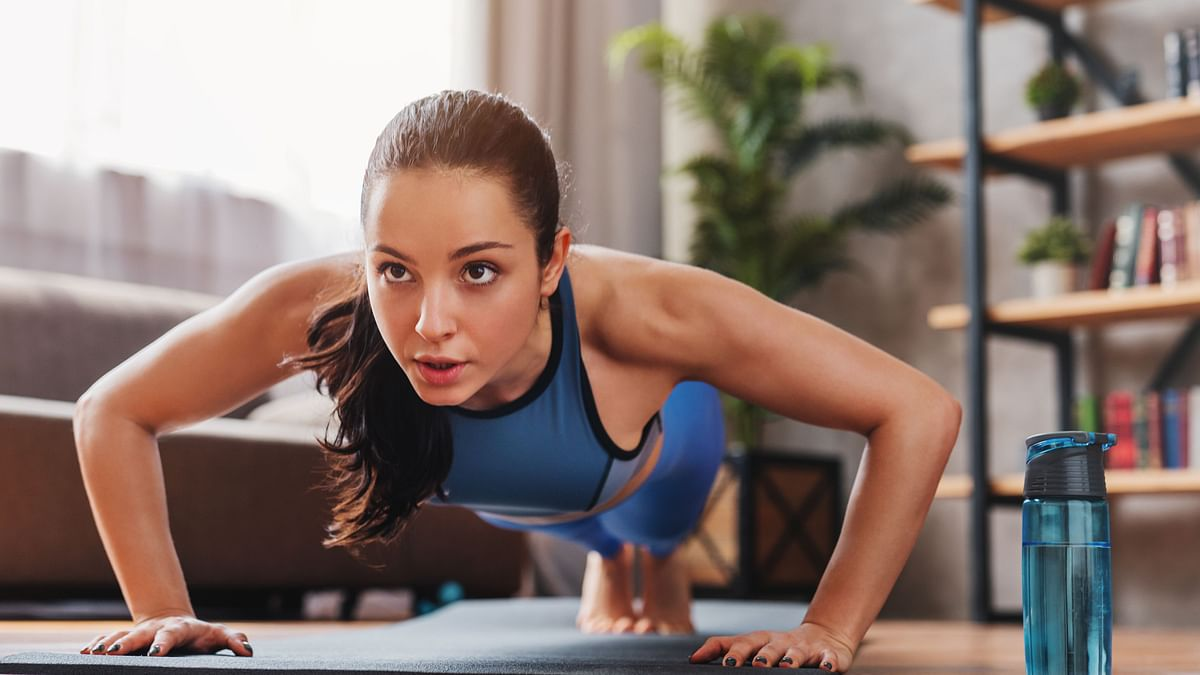 Try to utilize different places of your home to do physical activities.