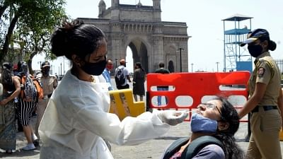 """<div class=""""paragraphs""""><p>COVID-19: Mumbai also recorded 367 new cases, while 518 patients recovered on Sunday.</p></div>"""