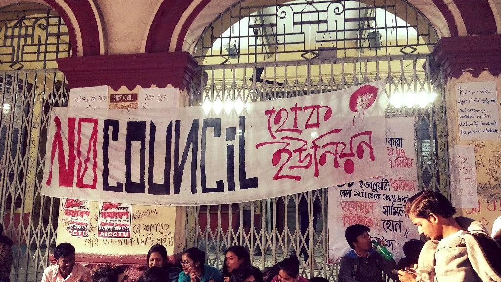 Hokunion Jadavpur Students Demand Elections To Students Union